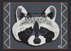 Raccoon Face Note Card