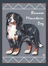 Bernese Mountain Dog 2 Note Card