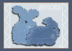 Angora Rabbits Note Card