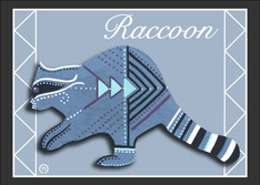 Raccoon Note Card