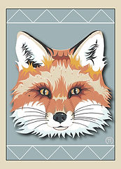 Caroline Freese greeting card red fox
