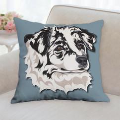 Australian Shepherd Face Pillow