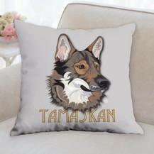 Tamaskan Name Pillow