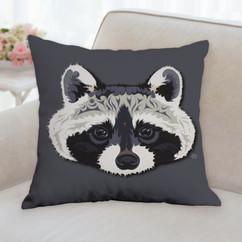 Raccoon Face Pillow