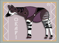Okapi Note Card