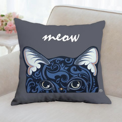 Black Cat Face Pillow