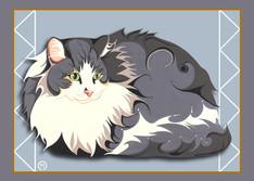 Fluffy Cat Note Card