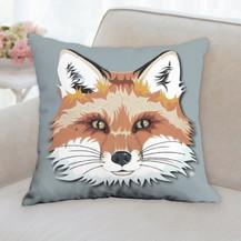 Red Fox Face Pillow