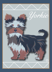 Yorkie 3 Note Card