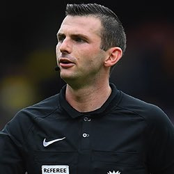 Town 1 Brighton 2: Michael Oliver has a rubbish bin instead of a heart