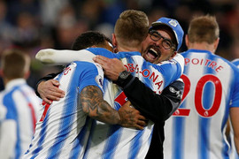 Huddersfield Town Celebrating