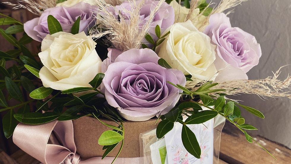 Rose Hat Box Arrangement