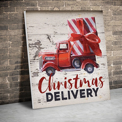 Christmas Delivery Tractor Posters