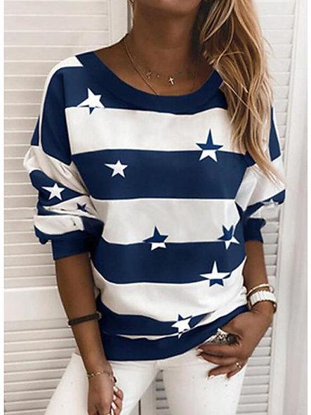 Hoodie Sweatshirt Striped