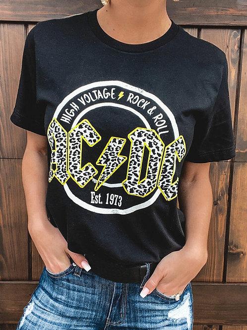 AC/DC Leopard Tee
