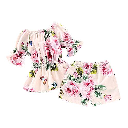 Fashion Elegant Toddler Baby Girls Off Shoulder
