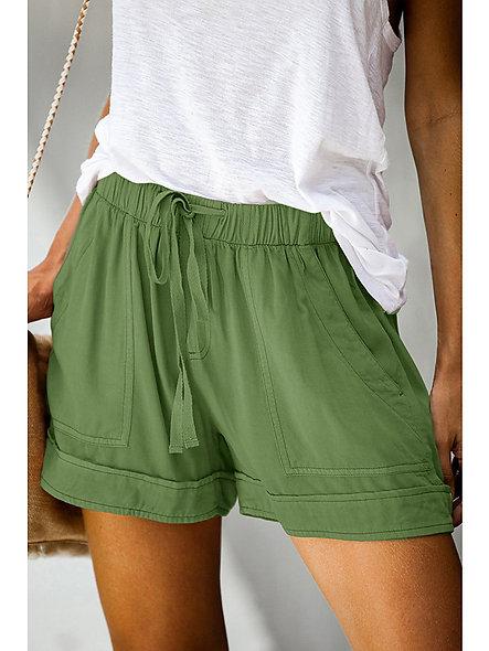 Classic Style Soft Linen Shorts