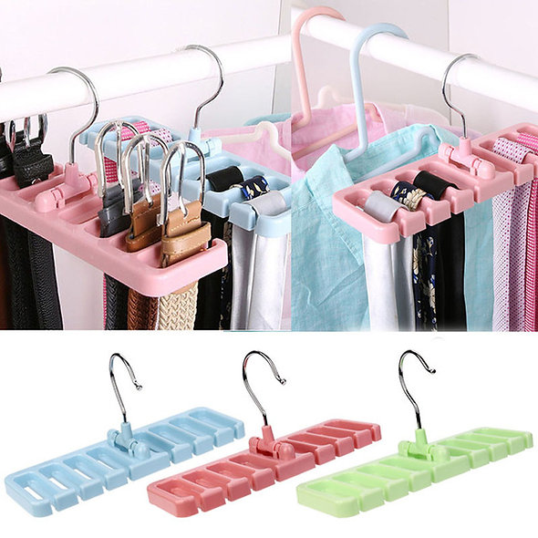 Storage Rack Tie Belt Organizer Space Hook