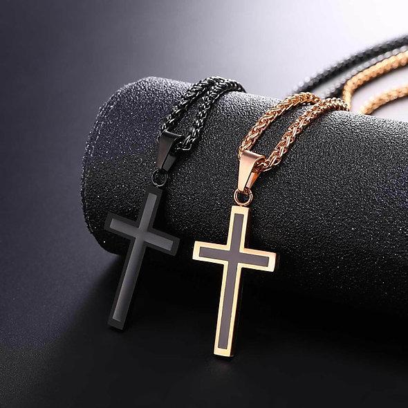 Men's Cross Rope Necklace