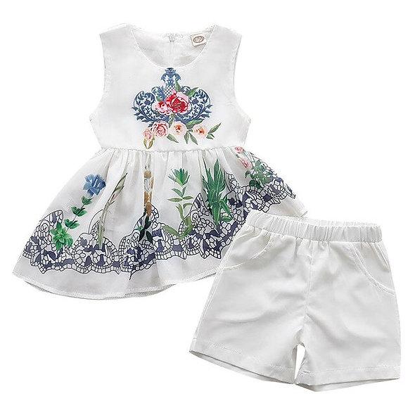 fashion Baby Girl Sleeveless Ethnic style