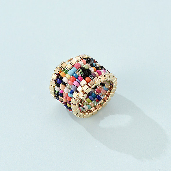 Color Rice Beads Ring