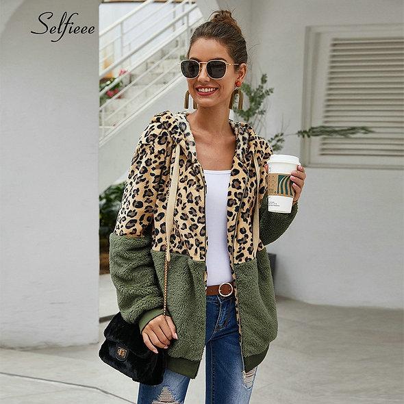 Zipped Hooded Leopard Hoodie