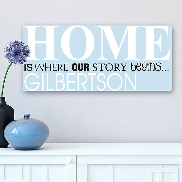 Where Our Story Begins Wrapped Canvas