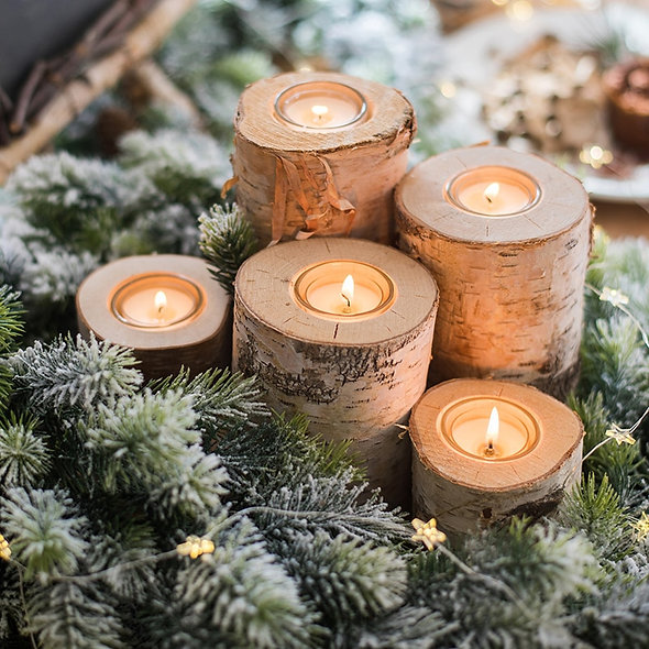 Creative Wooden Candlestick