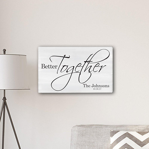 Better Together Farmhouse Canvas
