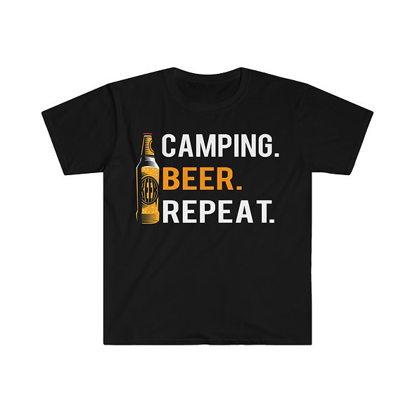 Camp Beer Repeat Softstyle Tee
