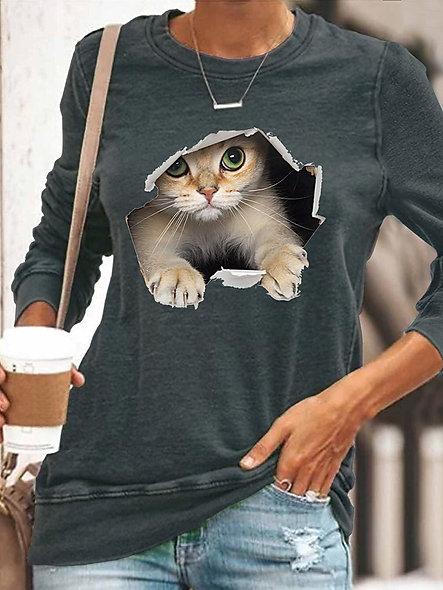 3D Cat Tee