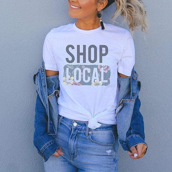Shop Local Floral Graphic T-Shirt