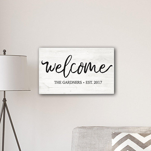 Welcome Farmhouse Canvas