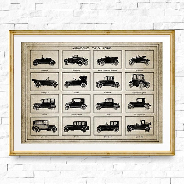 Vintage Vehicles Canvas Art