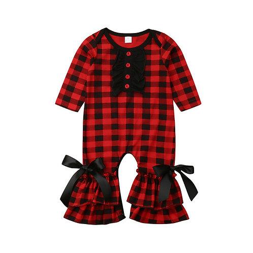 Cute Newborn Christmas Clothes Baby Girls Ruffle