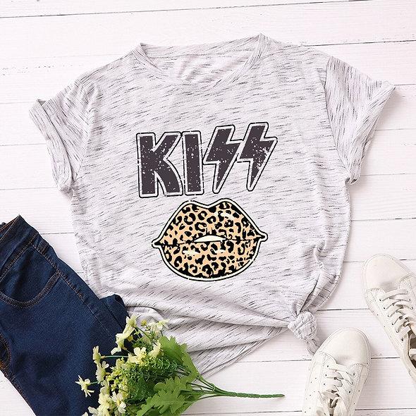 Kiss Leopard Tee