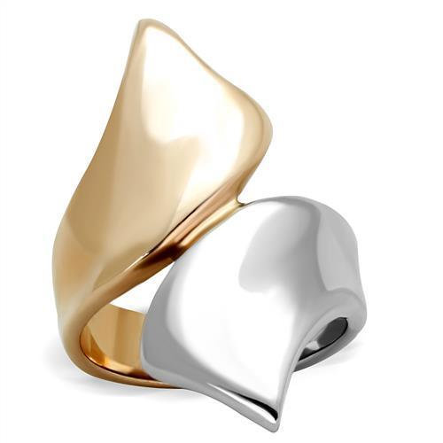 TK1793 Two-Tone IP Rose Gold Stainless Steel Ring