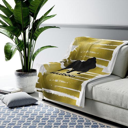 Gold Bulldog Blanket
