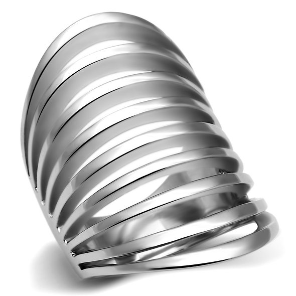 Women Stainless Steel No Stone Rings TK665