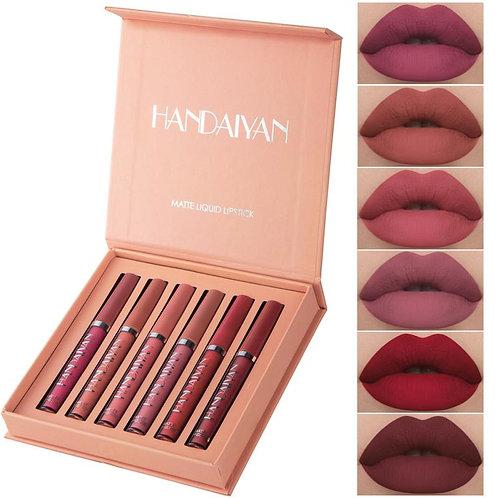 6 Colors Fashion Lip Kit