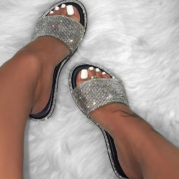 Crystal Sequined Sandals