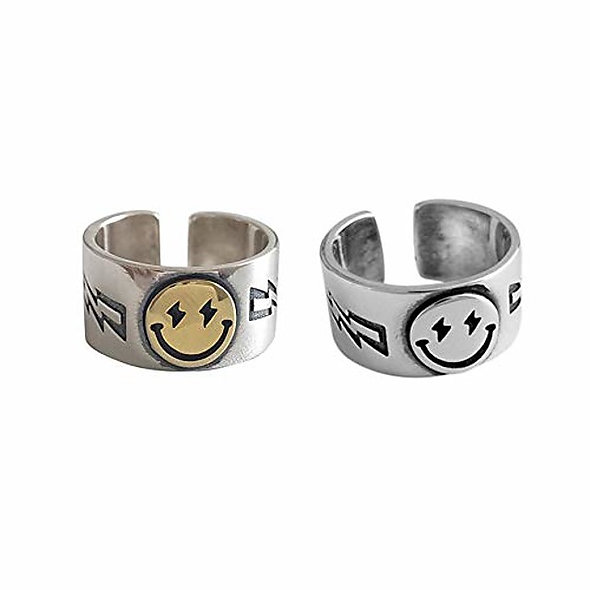 Chunky Smiley Face Ring