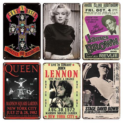 Vintage Wall Tin Signs