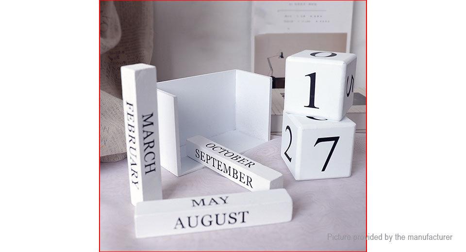 Wooden Daily Desktop Calendar Home Decoration