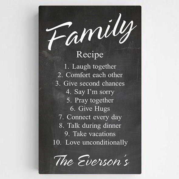 Family Recipe Canvas