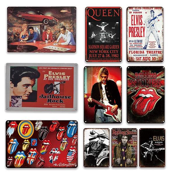 Vintage Pop Music Poster Metal Plates