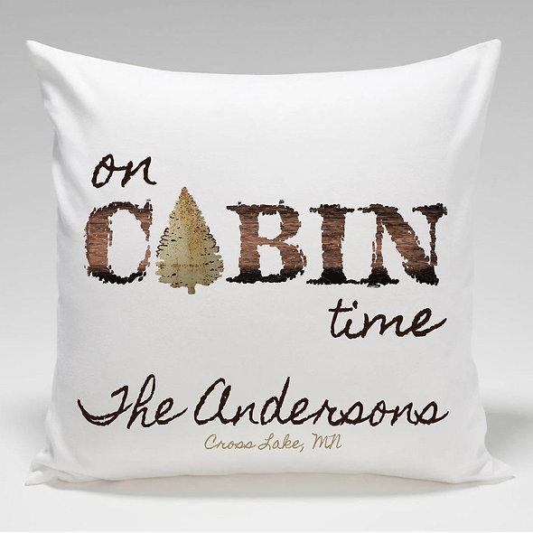 Cabin Throw Pillow