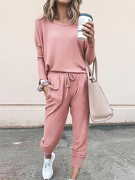 Solid Two Piece Tracksuit