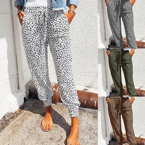 Leopard Print Casual Pants