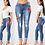 Thumbnail: Embroidery Stretch Jeans